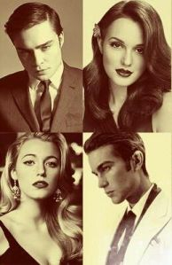 Chuck, Blair, Serena and Nate